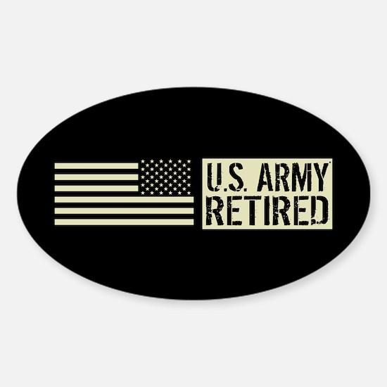 U.S. Army: Retired (Black Flag) Sticker (Oval)