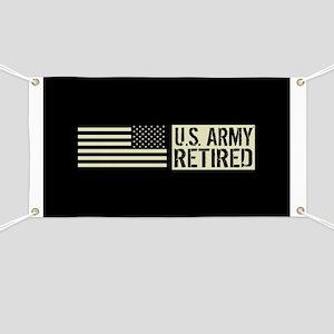 U.S. Army: Retired (Black Flag) Banner