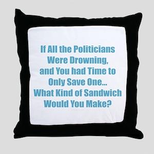 Politicians Sandwich Throw Pillow