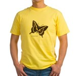Giant Swallowtail Butterfly Yellow T-Shirt