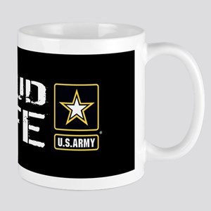 U.S. Army: Proud Wife (Black) Mug
