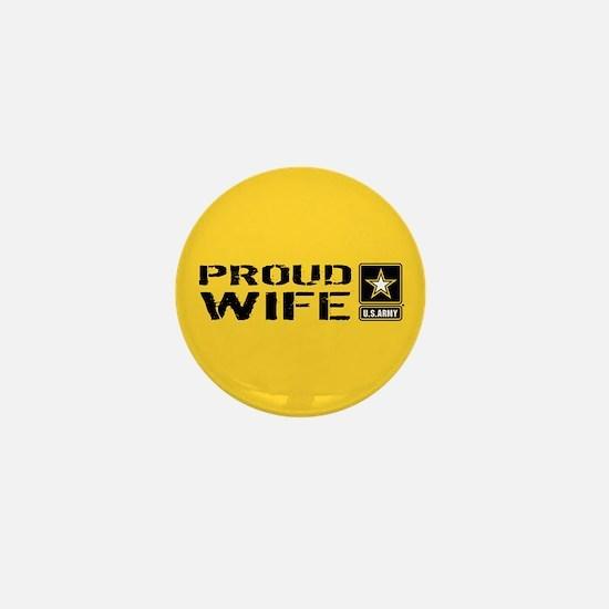 U.S. Army: Proud Wife (Gold) Mini Button