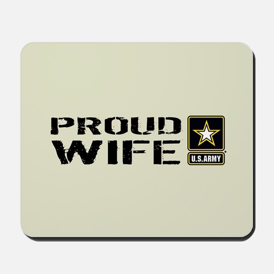 U.S. Army: Proud Wife (Sand) Mousepad