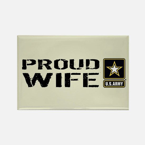 U.S. Army: Proud Wife (Sand) Rectangle Magnet