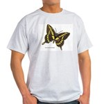 Swallowtail Butterfly (Front) Ash Grey T-Shirt