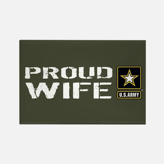 U.S. Army: Proud Wife (Military G Rectangle Magnet