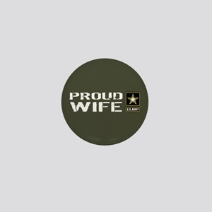 U.S. Army: Proud Wife (Military Green) Mini Button