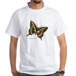Swallowtail Butterfly (Front) White T-Shirt