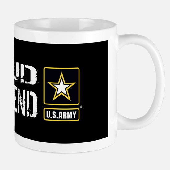 U.S. Army: Proud Girlfriend (Black) Mug