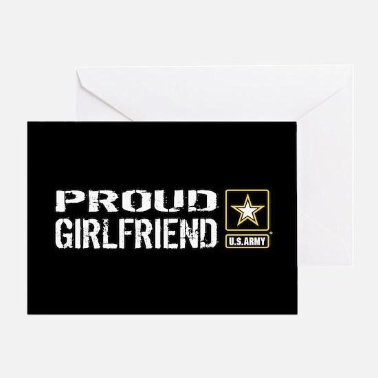 U.S. Army: Proud Girlfriend (Black) Greeting Card