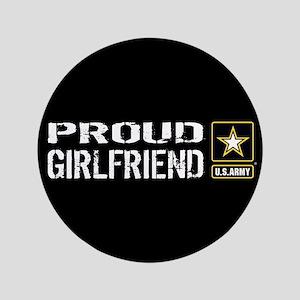 U.S. Army: Proud Girlfriend (Black) Button