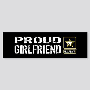 U.S. Army: Proud Girlfriend (Blac Sticker (Bumper)