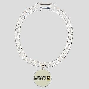 U.S. Army: Proud Girlfri Charm Bracelet, One Charm