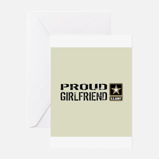 U.S. Army: Proud Girlfriend (Sand) Greeting Card