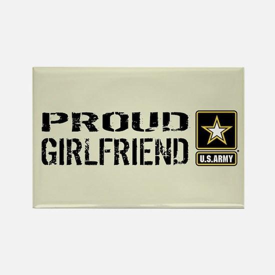 U.S. Army: Proud Girlfriend (Sand Rectangle Magnet