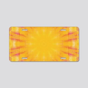 Summer Square 1 Aluminum License Plate