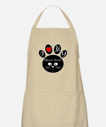 I love my African serval Apron