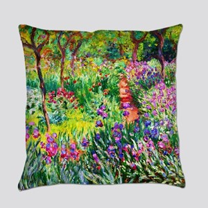 Iris Garden at Giverny Monet Everyday Pillow