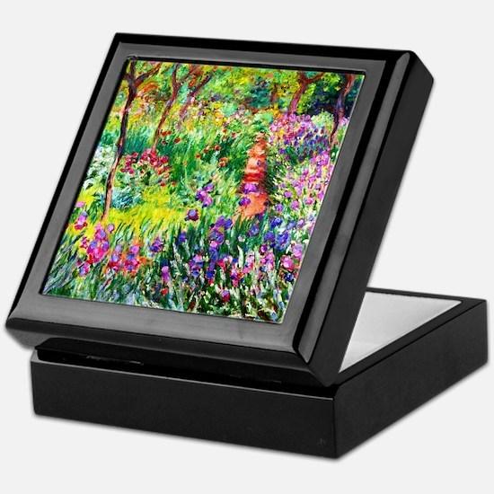 Iris Garden at Giverny Monet Keepsake Box