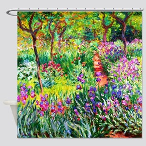 Iris Garden at Giverny Monet Shower Curtain