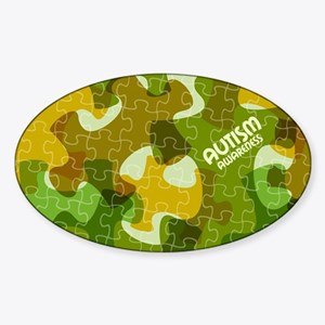 Autism Awareness Puzzles Camo Sticker
