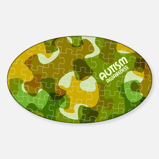 Autism Awareness Puzzles Camo Decal