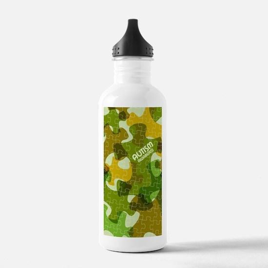 Autism Awareness Puzzl Water Bottle