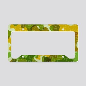 Autism Awareness Puzzles Camo License Plate Holder