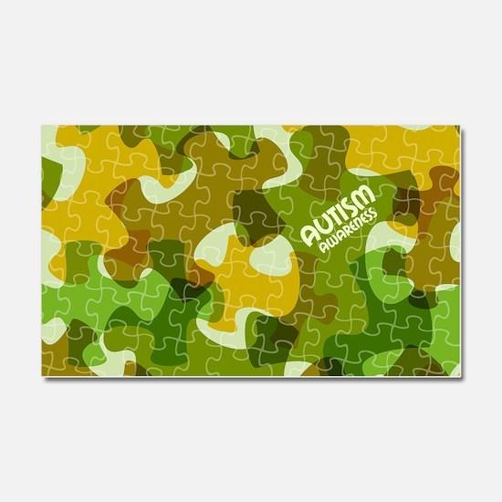 Autism Awareness Puzzles Camo Car Magnet 20 x 12