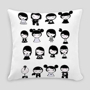 Chibi Emo Goth Everyday Pillow
