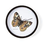 Buckeye Butterfly Wall Clock