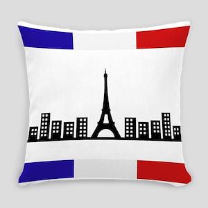 skyline paris Everyday Pillow