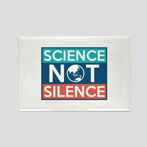 Science Not Silence Rectangle Magnet