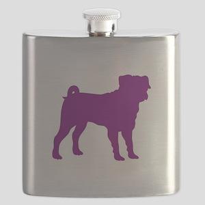 Pug Purple 1C Flask