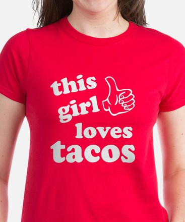 This girl loves tacos Women's Dark T-Shirt