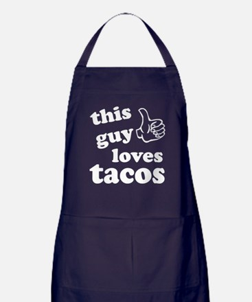 This guy loves tacos Apron (dark)