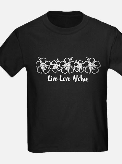 Live Love Aloha WHT T