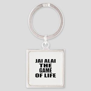 Jai Alai The Game Of Life Square Keychain