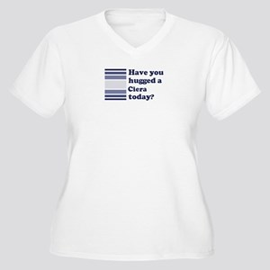 Hugged Ciera Women's Plus Size V-Neck T-Shirt