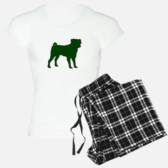 Pug Green 1 Pajamas
