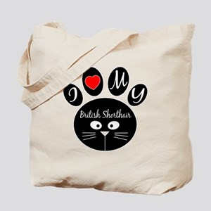 I love my British Shorthair Tote Bag