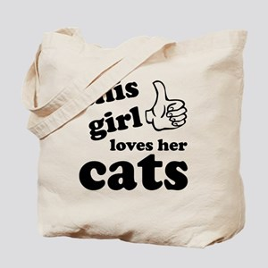 This girl loves cats Tote Bag