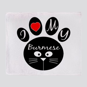 I love my Burmese Throw Blanket