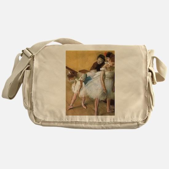 Vintage Ballet by Edgar Degas Messenger Bag