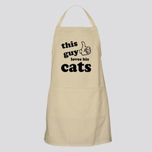 This guy loves cats Apron