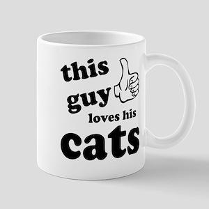 This guy loves cats Mug