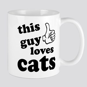 This guy loves cats Mug