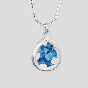 puzzle-v2-blue Necklaces