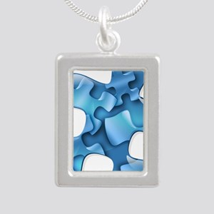 puzzle-v2-blue Necklaces