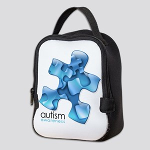 puzzle-v2-blue Neoprene Lunch Bag
